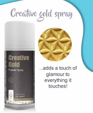 Creative gold spray