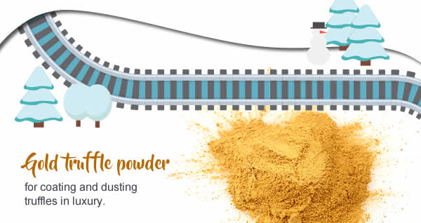 Gold truffle powder – for coating and dusting truffles in luxury.