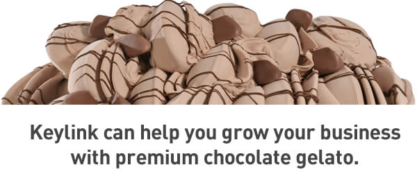 Keylink can help you grow your business with premium chocolate gelato.