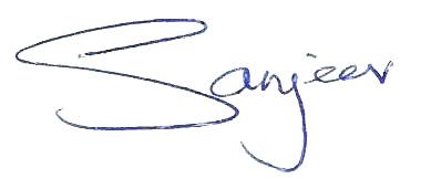 Sanjeev signature